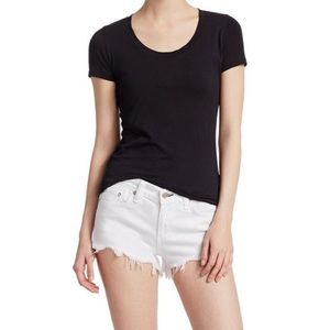 Rag & Bone Women's Cut-Off White Denim Shorts